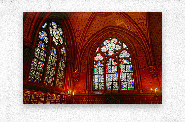 Jeanne d Arc and Saint Croix Cathedral at Orleans   France 6 of 7  Metal print