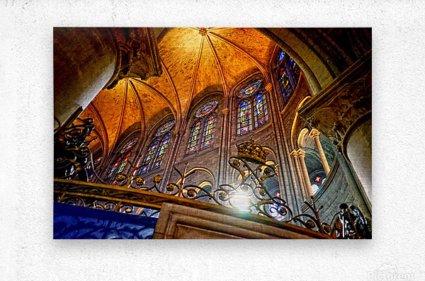 Jeanne d Arc and Saint Croix Cathedral at Orleans   France 7 of 7  Metal print