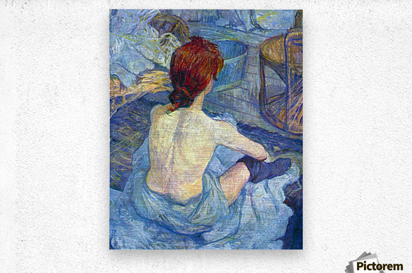Rousse the Toilet by Toulouse-Lautrec  Metal print
