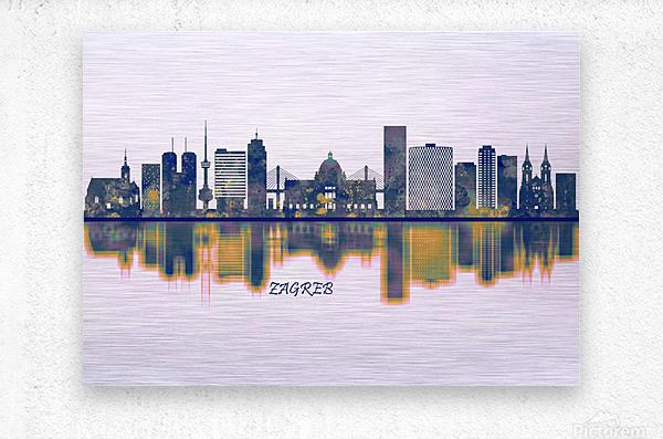 Zagreb Skyline  Metal print