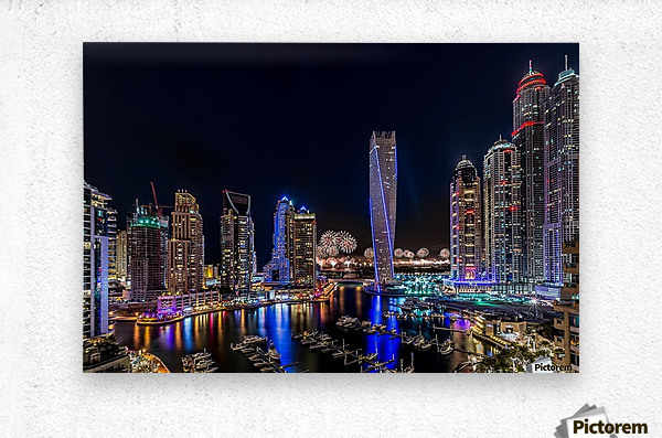 Happy New Year Dubai  Metal print