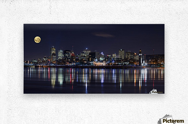 Montreal Night  Metal print