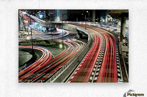 Chaotic Traffic  Metal print