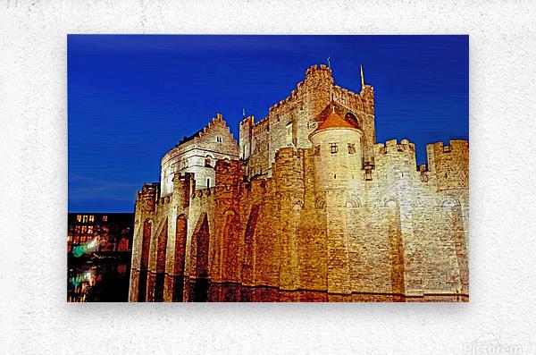 Castle of the Counts Belgium  Metal print