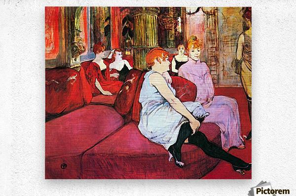 Salon in the Rue de Moulins by Toulouse-Lautrec  Metal print