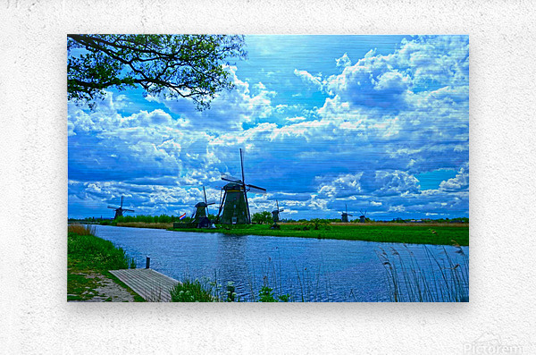 Windmills of the Netherlands 2 of 4  Metal print