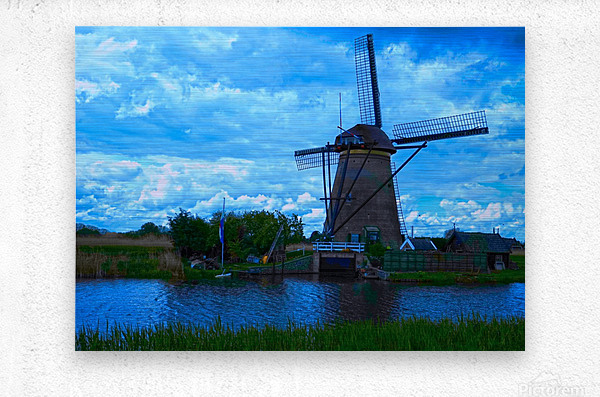 Windmill After the Storm  Metal print