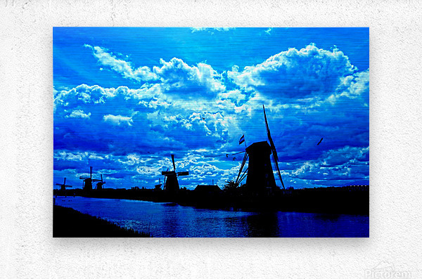 Windmills of the Netherlands 4 of 4  Metal print
