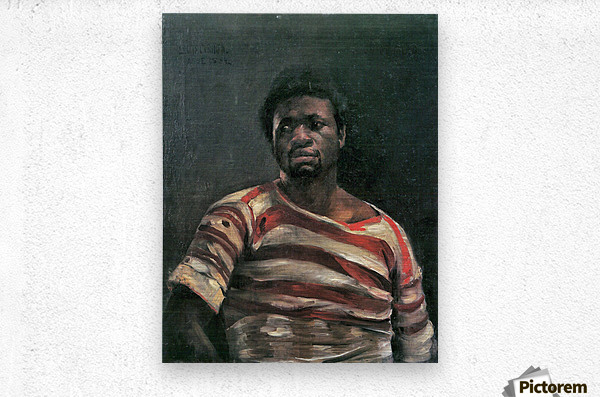 Negro Othello by Lovis Corinth  Metal print