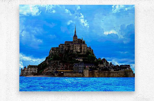 Mont St Michel Panorama  Metal print