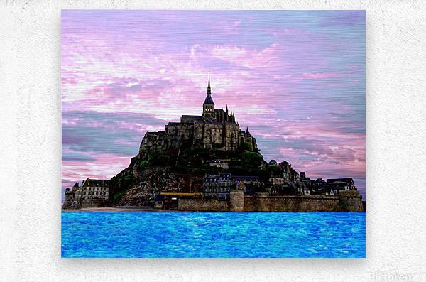 Mont St Michel at Sunset - France  Metal print