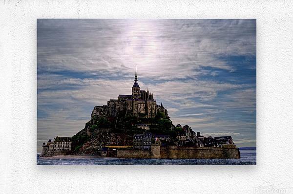 Mount Saint Michael The Fires of Heaven - Normandy France  Metal print