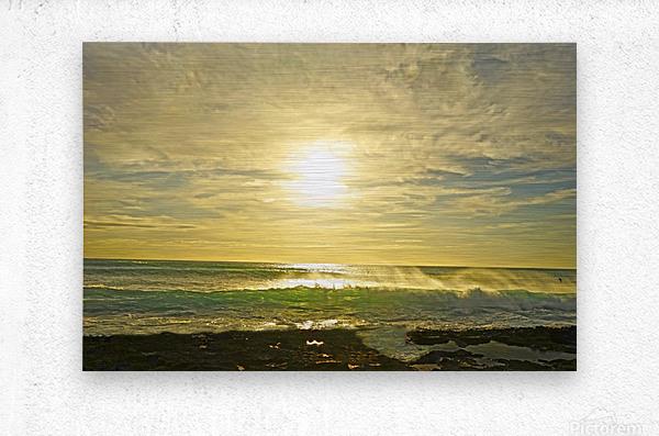 Splash - Sunset Hawaii  Metal print