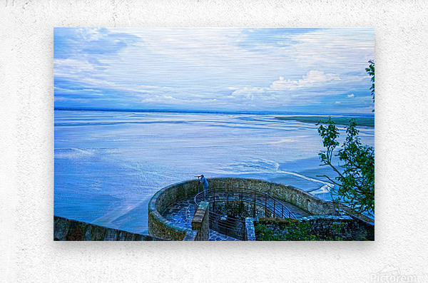 A Day at Mont Saint Michel 6 of 12  Metal print