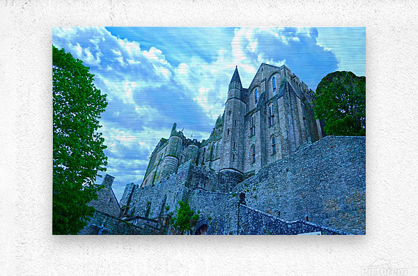 A Day at Mont Saint Michel 9 of 12  Metal print