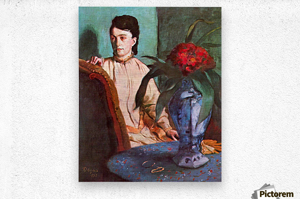 Seated woman by Degas  Metal print