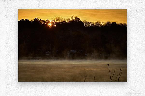 Sunrise at Langley Pond Park   Aiken SC 7R301610 12 19 20  Metal print