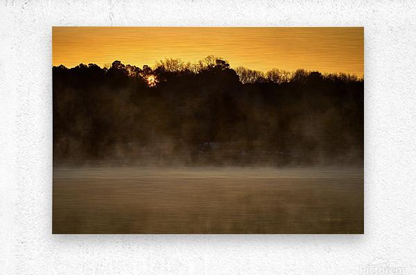 Sunrise at Langley Pond Park   Aiken SC 7R301594 12 19 20  Metal print