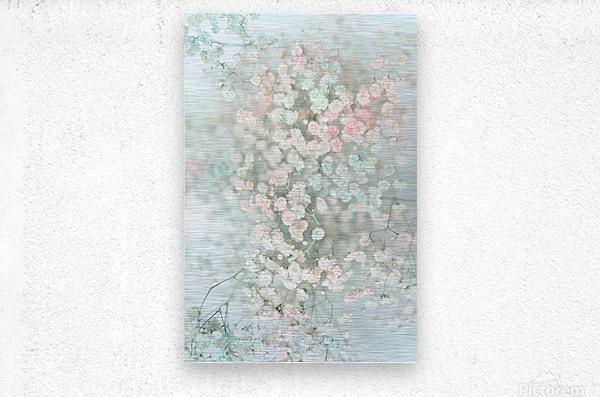 Daltana Pastel Floral Bina  Metal print