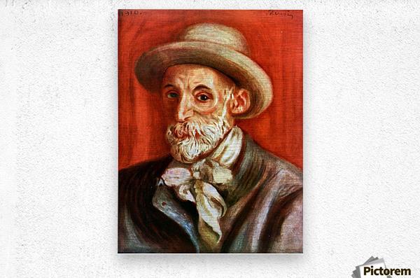 Self-Portrait 1910 by Renoir  Metal print