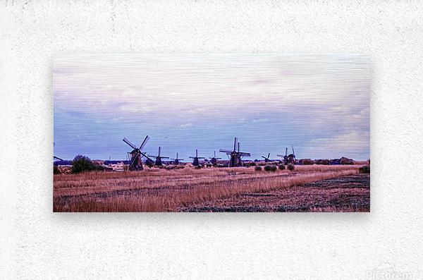 Wonderful Windmills  Metal print