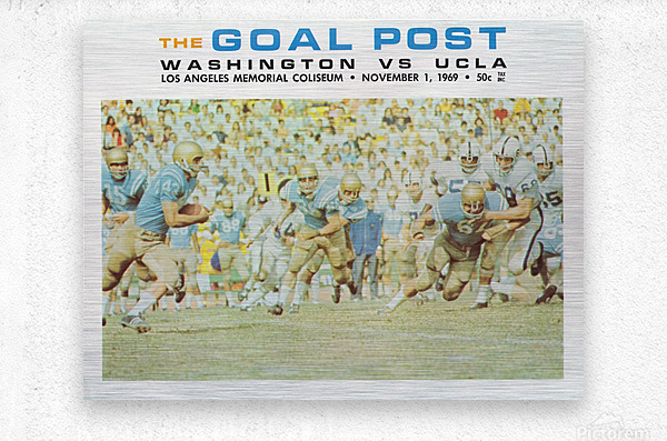 1969 UCLA vs. Washington Football Program Cover Art  Metal print