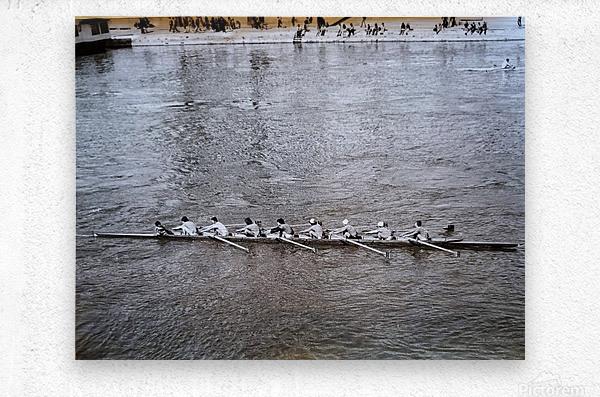 Paris Rowing 1975   2  Metal print
