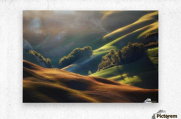 Tuscany Sunrise  Metal print