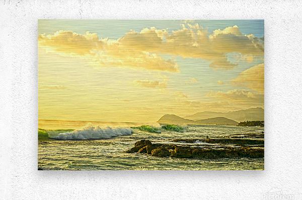 Perfect Day - Sunset Hawaiian Islands  Metal print
