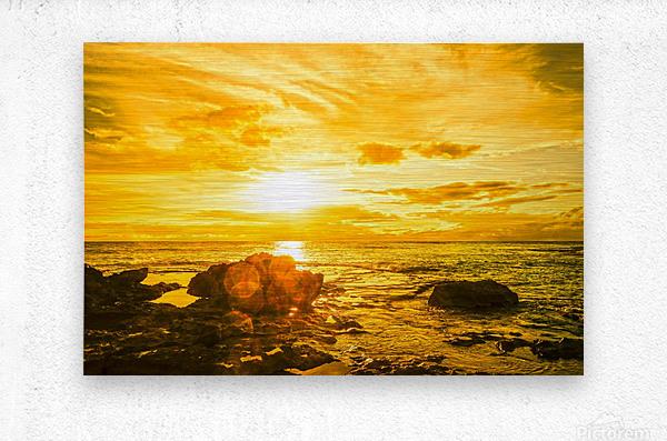 Majestic Sunset - Hawaiian Islands  Metal print