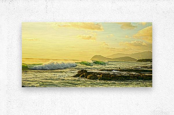Perfect Day Panorama - Sunset Hawaiian Islands  Metal print