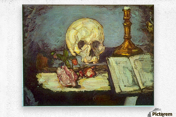 Skull by Degas  Metal print