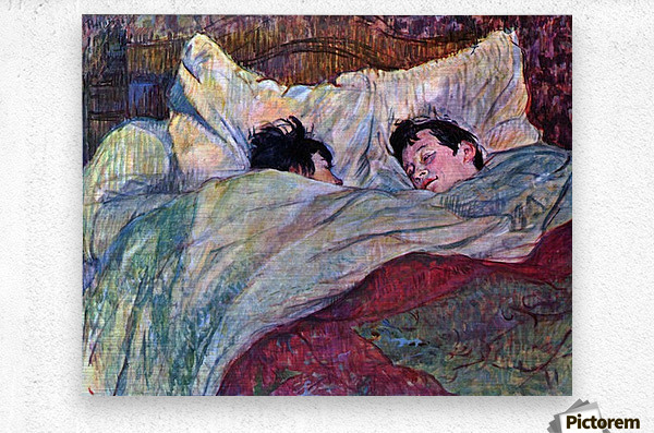 Sleeping by Toulouse-Lautrec  Metal print