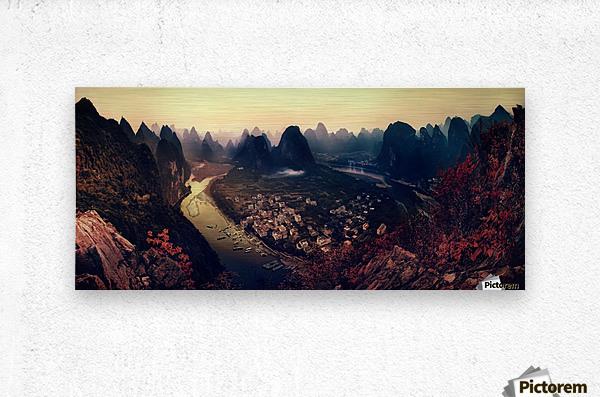 The Karst Mountains of Guangxi  Metal print