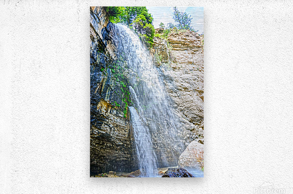 Rocky Mountain Rapids and Waterfalls 5 of 8  Metal print