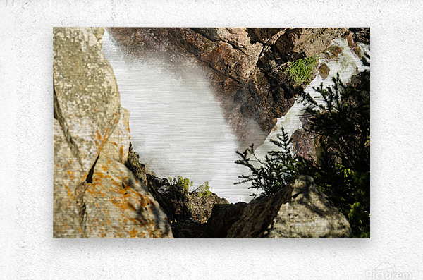 Rocky Mountain Rapids and Waterfalls 4 of 8  Metal print