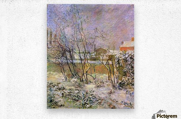 Snow in Rue Carcel by Gauguin  Metal print
