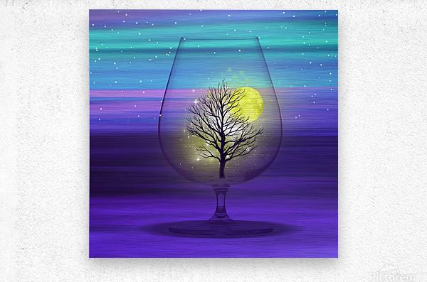 Landscape in a glass.  Metal print