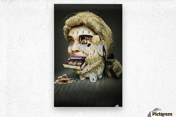 The Miser Molier by DDiArte    Metal print
