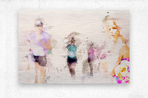 Day At The Race  Metal print