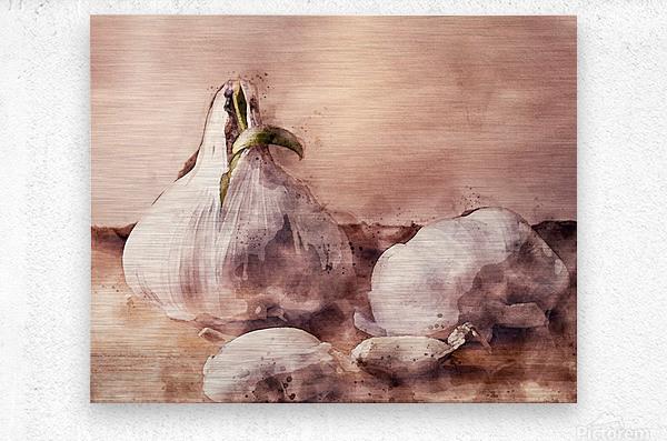Garlic In The Kitchen  Metal print