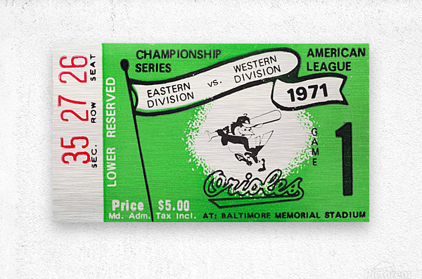 1971 Baltimore Orioles American League Championship  Metal print