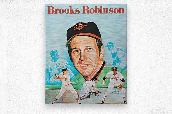1974 Brooks Robinson Poster  Metal print
