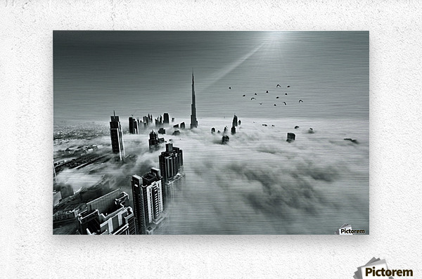 Up up and Above  Metal print