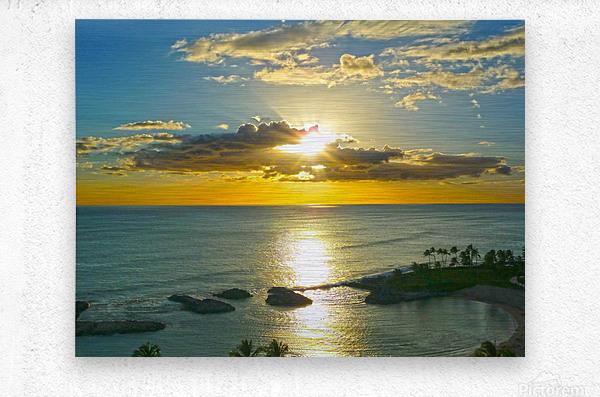 Island Dreamin - Hawaii Sunset  Metal print