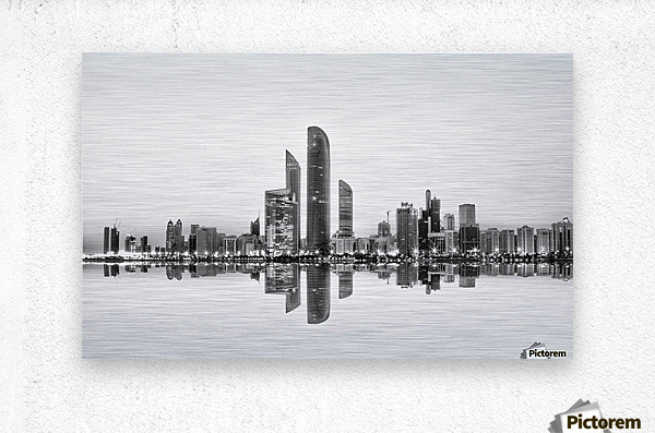 Abu Dhabi Urban Reflection  Metal print