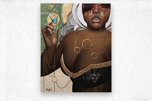 She Who Laments  Metal print