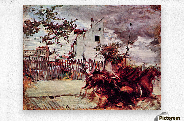 Outskirts of Paris by Giovanni Boldini  Metal print