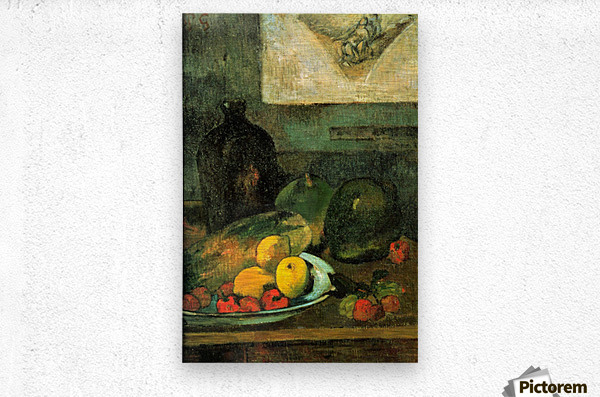 Still Life in Front of a Stich by Gauguin  Metal print