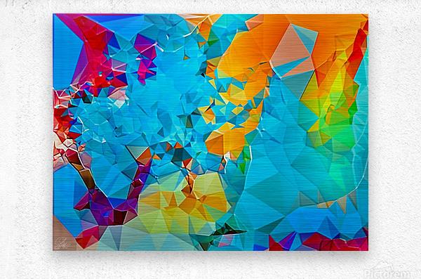 Berry Lush Blooms  Metal print